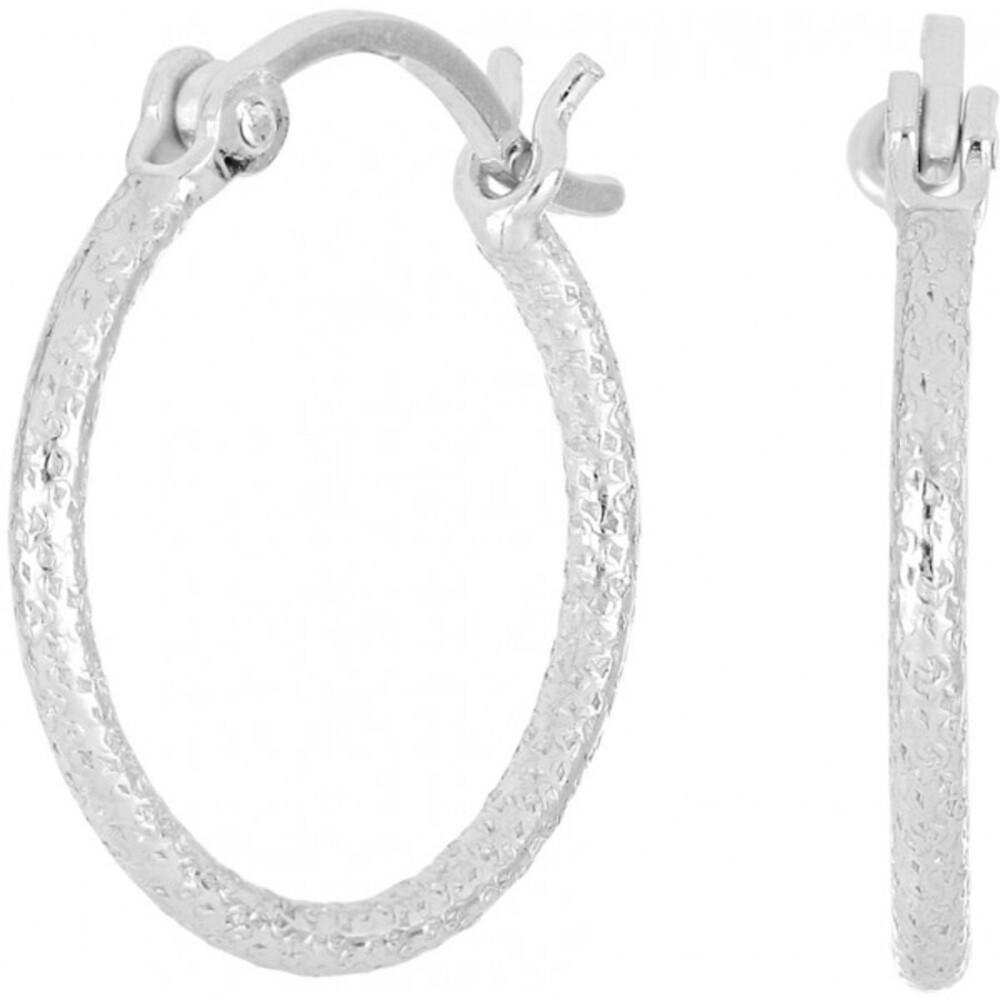 Nordahl Joanli Nor Ohrringe Creolen 325 722 Sterling Silber 925 gebürstete Oberfläche Creole 20mm Durchmesser