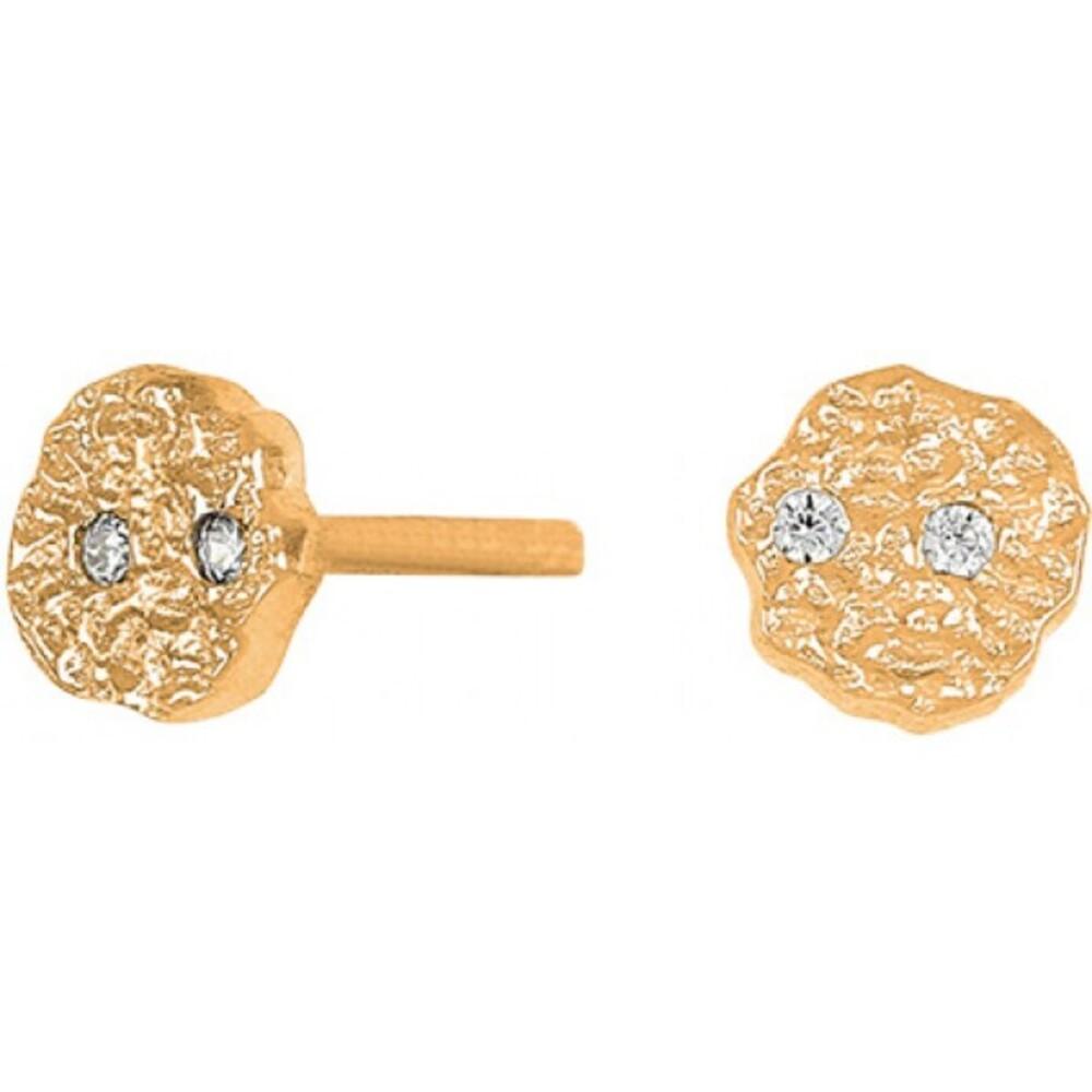 Joanli Nor Ohrstecker 345 258-3 Gwennor Sterling Silber 925 vergoldet 925 4mm Durchmesser