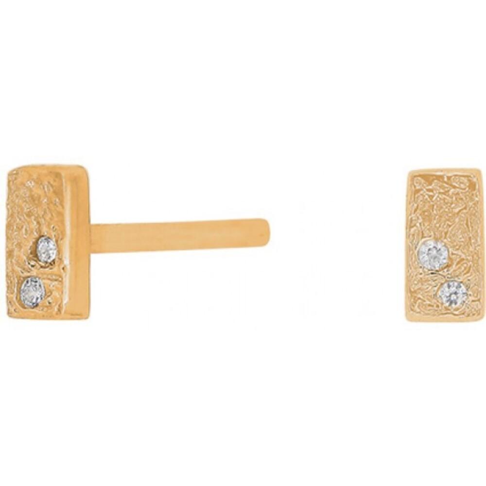 Joanli Nor Ohrstecker 345 259-3 Gwennor vegoldet Sterling Silber 925 vergoldet 4x2mm Durchmesser