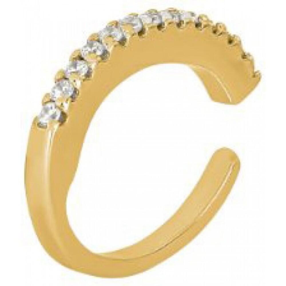 Joanli Nor Ohrring 345 308-3 Helganor gelb vergoldetes Sterling Silber 925 Fake Piercing Helix Schmuck ohne Nadel Einzelner Ohrring