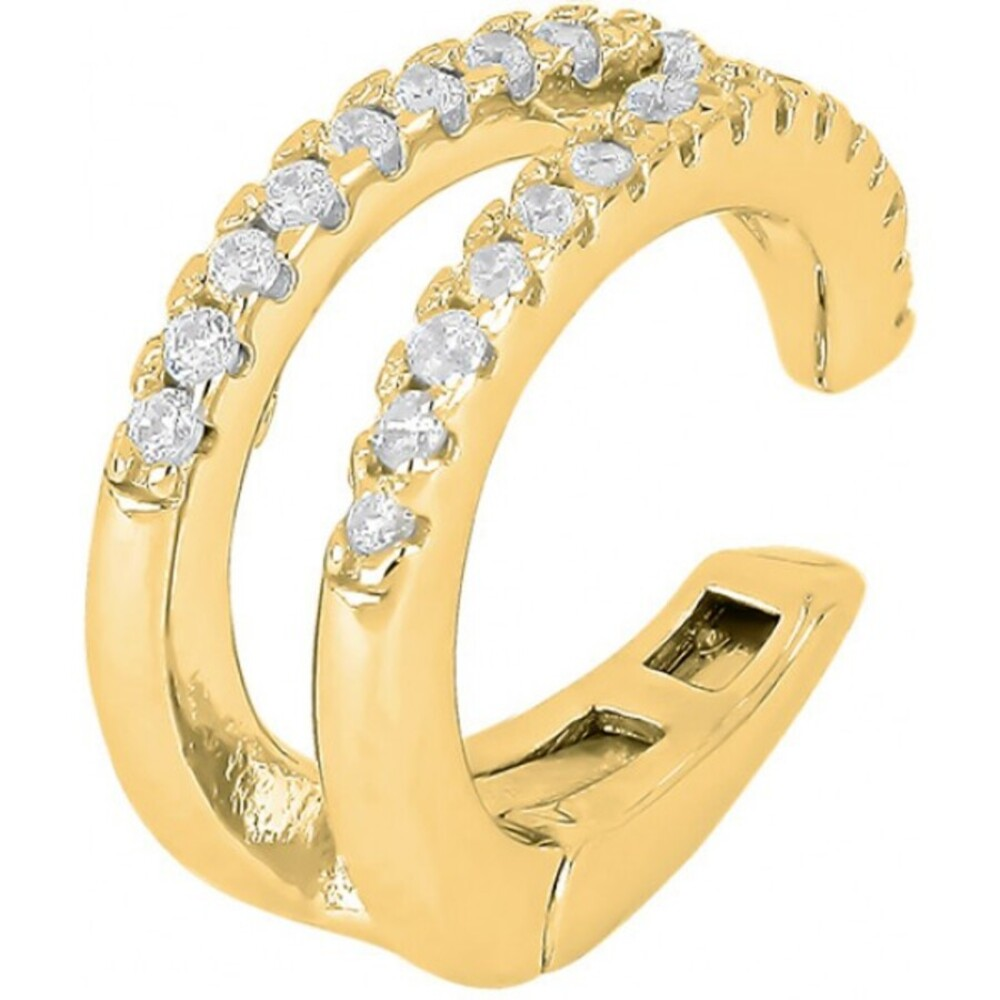 Joanli Nor Ohrring  345 309-3 Helganor gelb vergoldetes Sterling Silber 925 Fake Piercing Helix Schmuck ohne Nadel Einzelner Ohrring