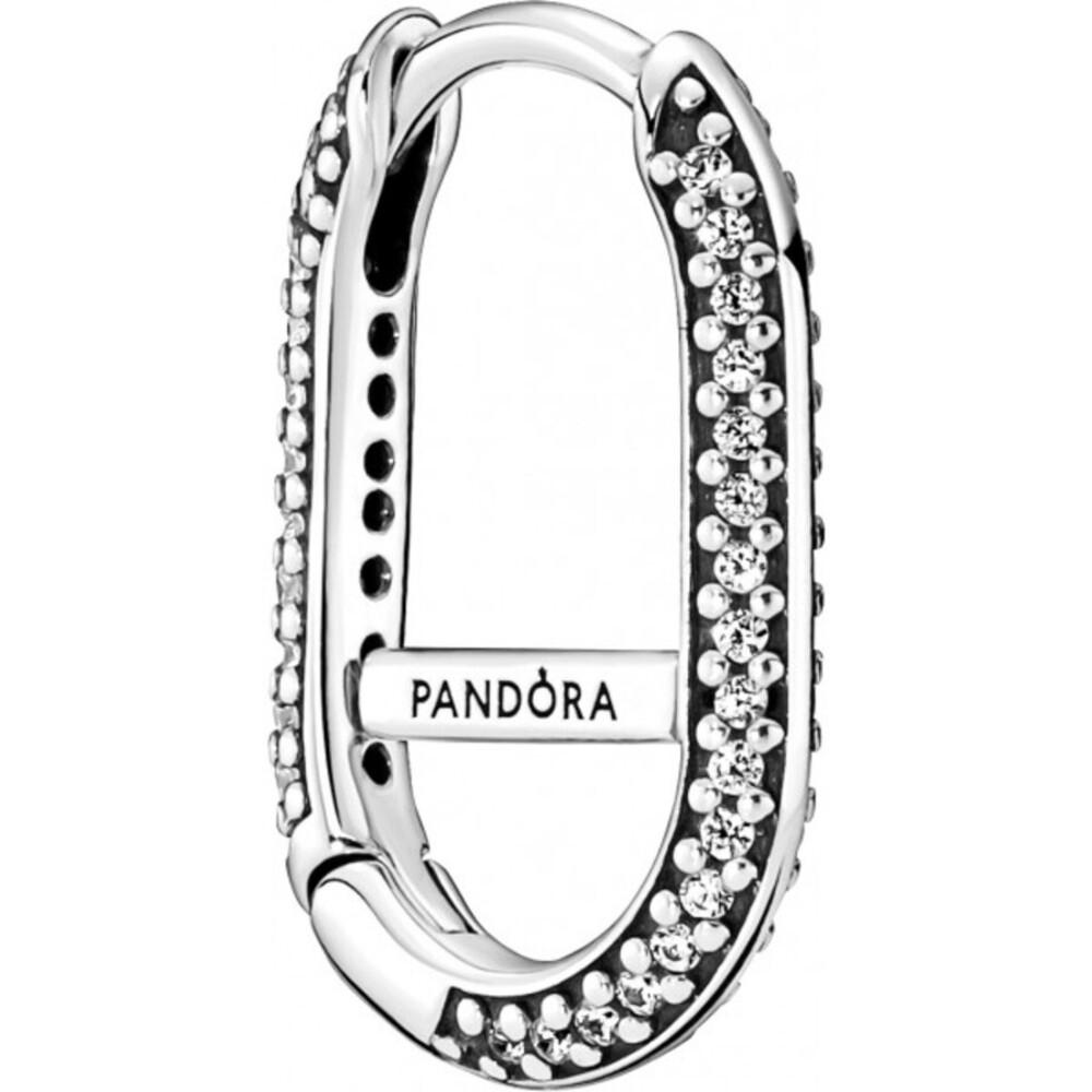 Pandora Me Hoops Ohrring 299682C01 Pave Link Sterling Silber 925 klare Zirkonia einzelner Ohrring