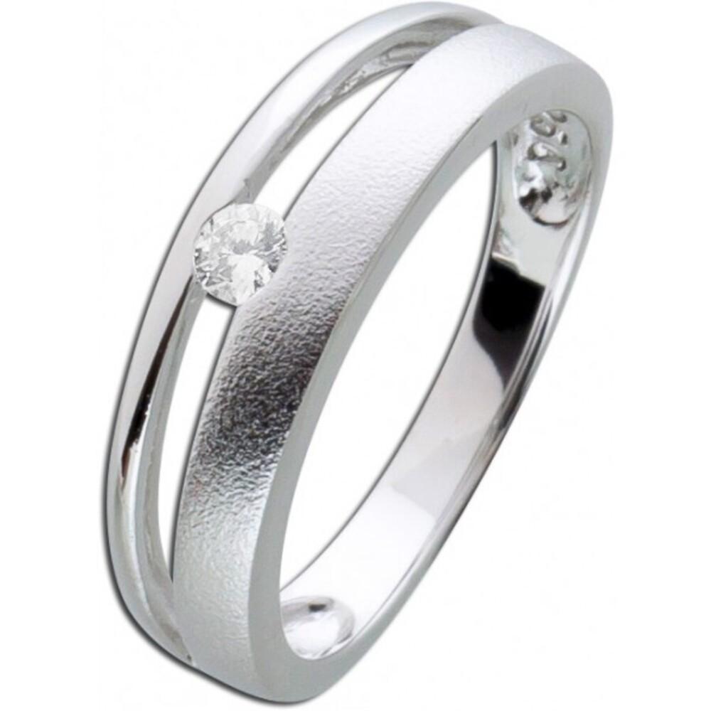 Silber Zirkoniaring weiß Silber 925 Damenschmuck 1