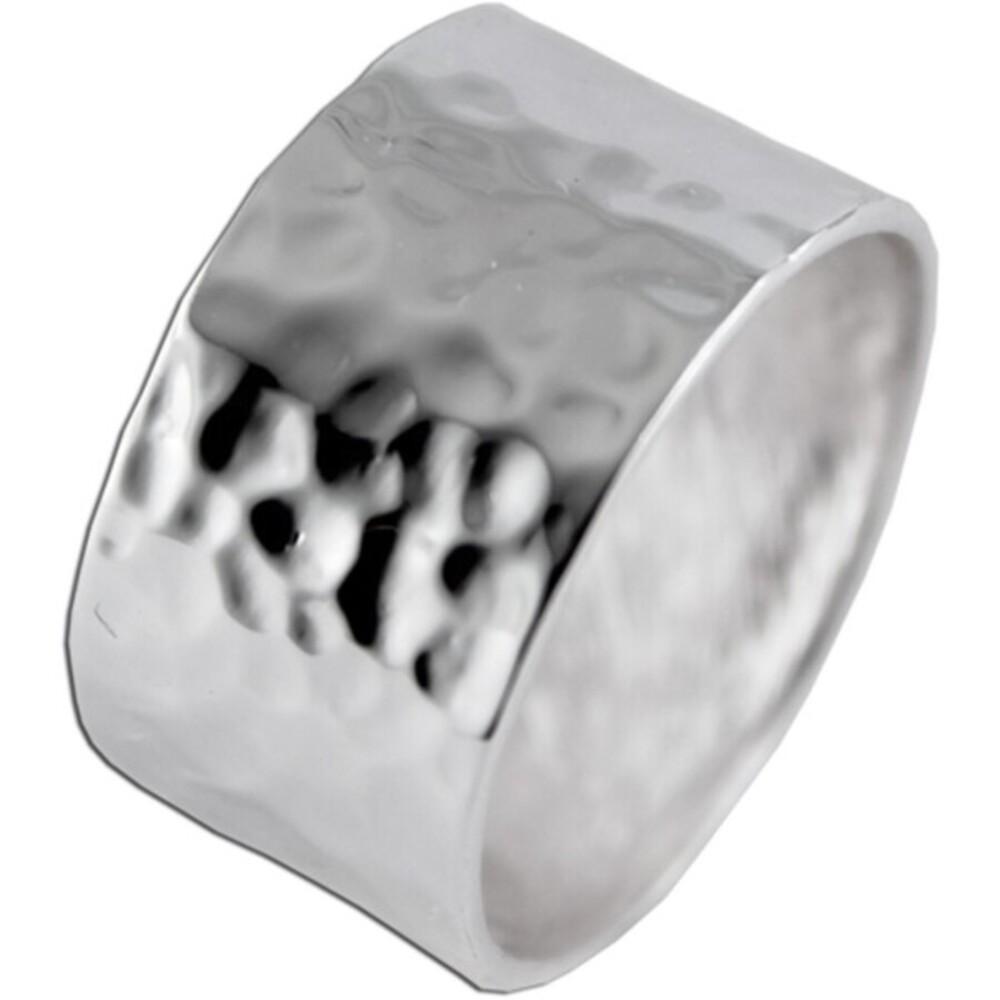 Damen Silber Ring Hammerschlag Optik Sterling Silber 925 Damenschmuck _1