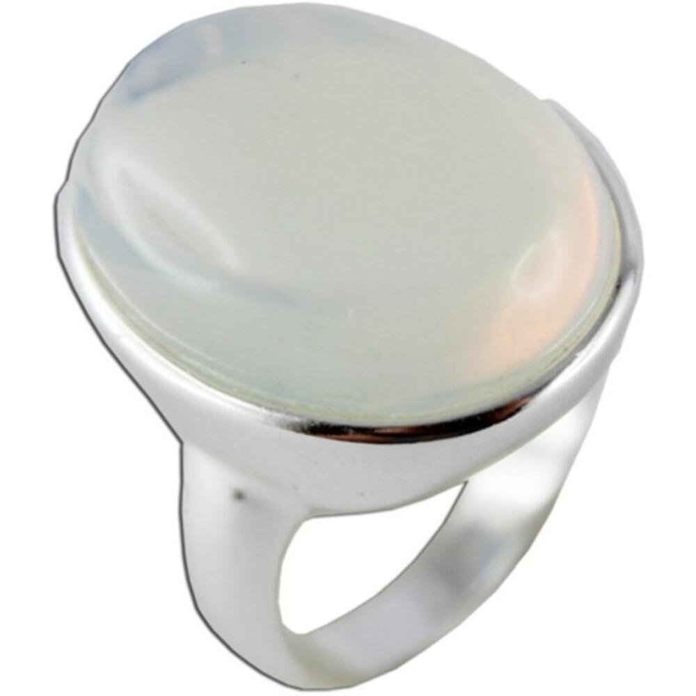 Blau weißer Mondsteinring Sterling Silber 925 synthetisch 1