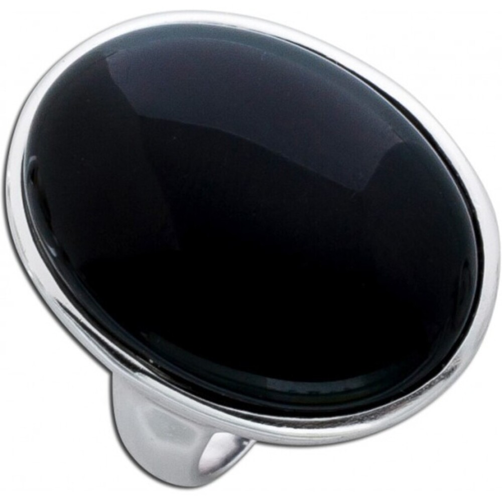 Schwarzer Onyx Ring Edelsteinschmuck Sterling Silber 925 Cabochon 1