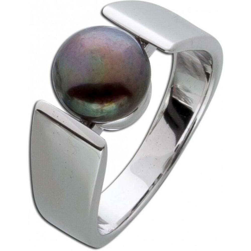 Ring Silber 925 Perle grau Silberring Damen_01