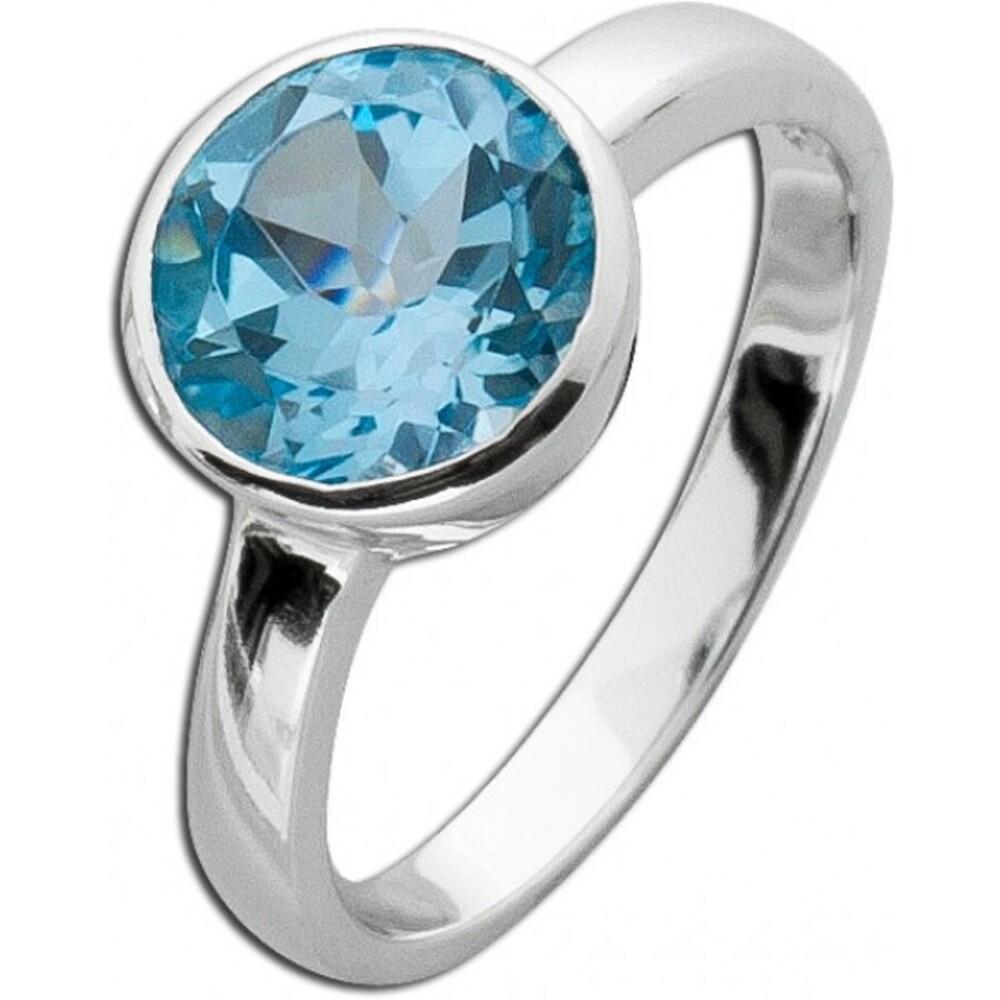 Blautopas Solitärring Sterling Silber 925_1