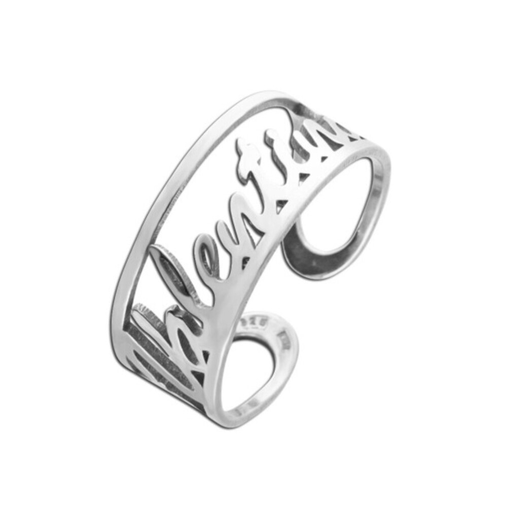 Personalisierter Namensring in Sterling Silber 925 , Name oder Text bis max. 10 Buchstaben !