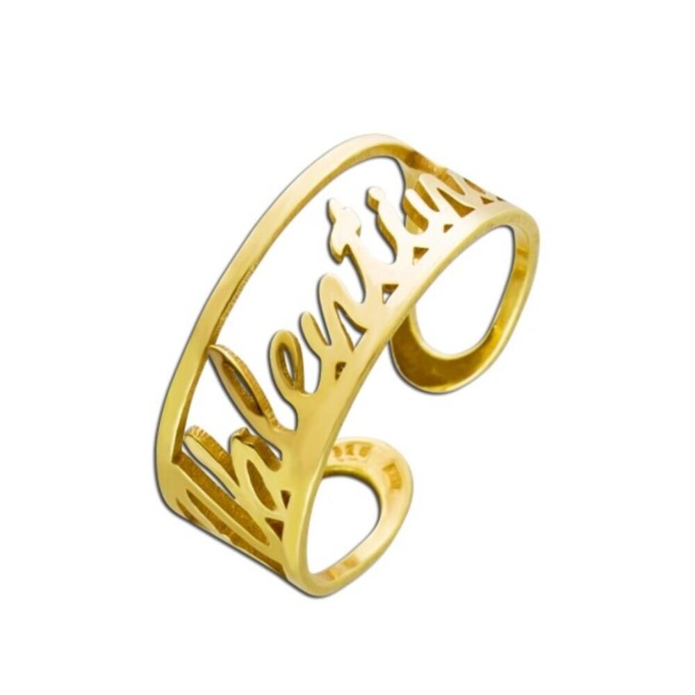Personalisierter Namensring Silber vergoldet Namenskette