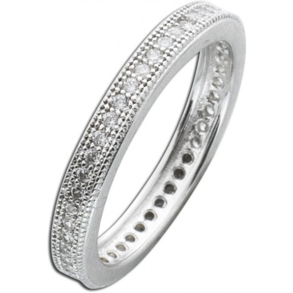 Silberring Memoire Ring weißem Zirkonia Silber 925 1