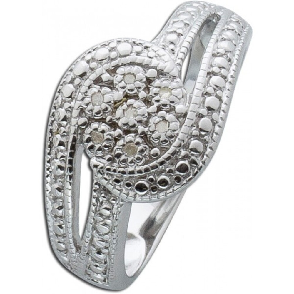 Ring Sterling Silber 925 poliert 7 Diamanten 8/8