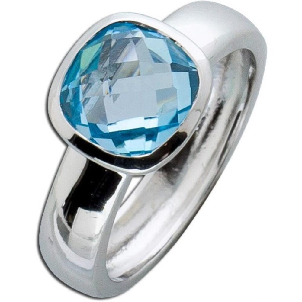 Blautopas Ring Silberring Sterling Silber 925_1