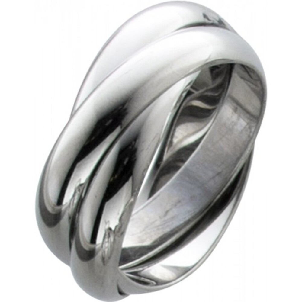 Trinity dreifach Ring Damenring T-Y Toyo Yamamoto Edelstahl poliert