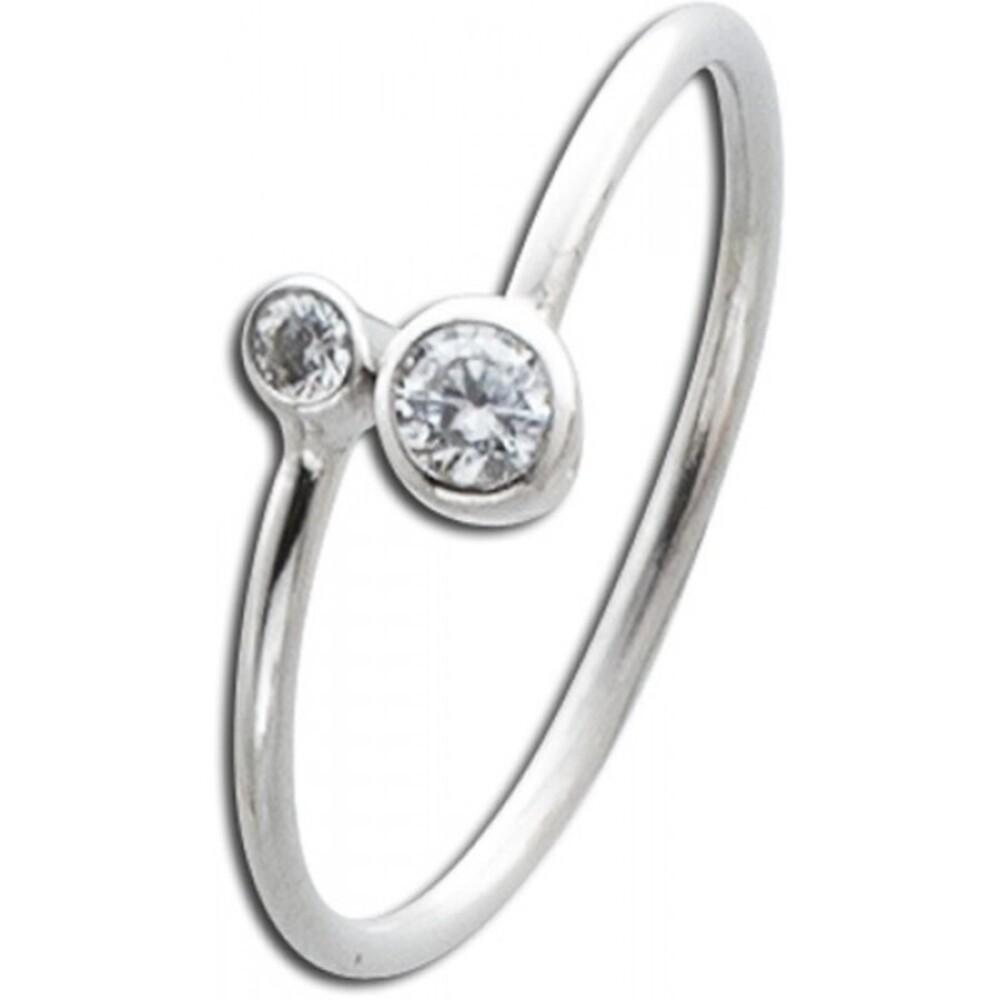 Zirkonia Ring weiß Sterling Silber 925 Damenschmuck 1