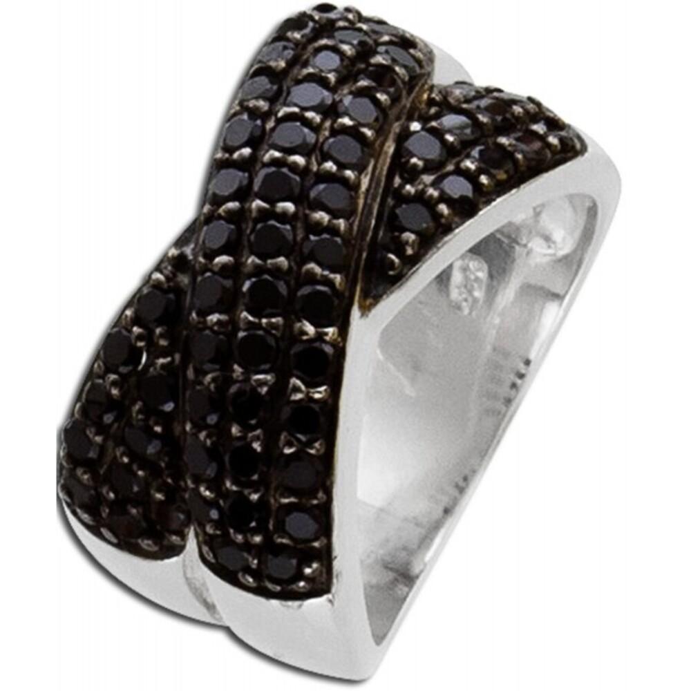 Spinell Ring schwarz Sterling Silber 925/-  1
