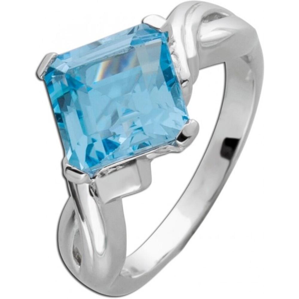 Damenring Silber 925 Blautopas Edelstein_1