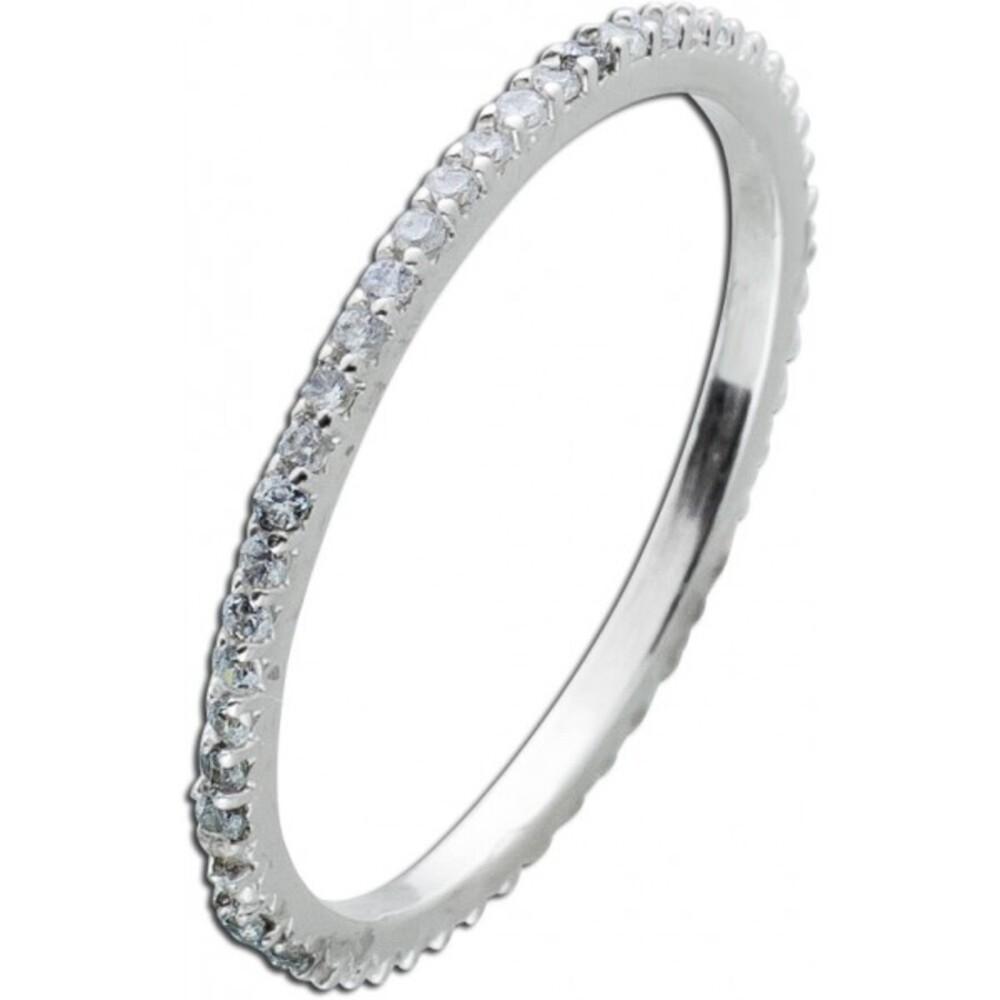 Silberring weißen Zirkonia  Memoirering Silber 925 Damenring 1