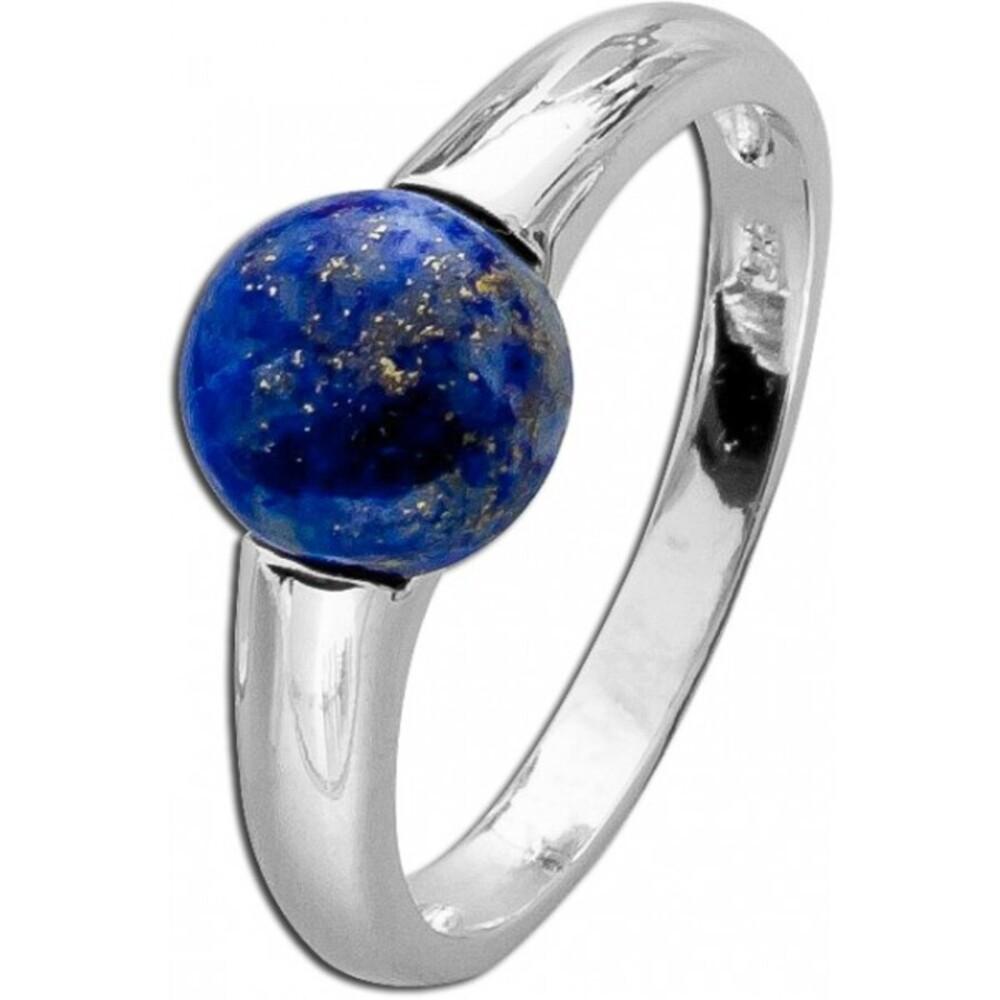 Blauer Ring Lapislazuli Silber 925 rhodiniert blauer Edelsteinring TY Toyo Yamamoto