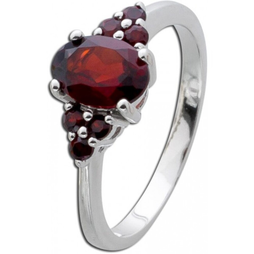 Granat Ring Silber 925 roter Edelstein_01