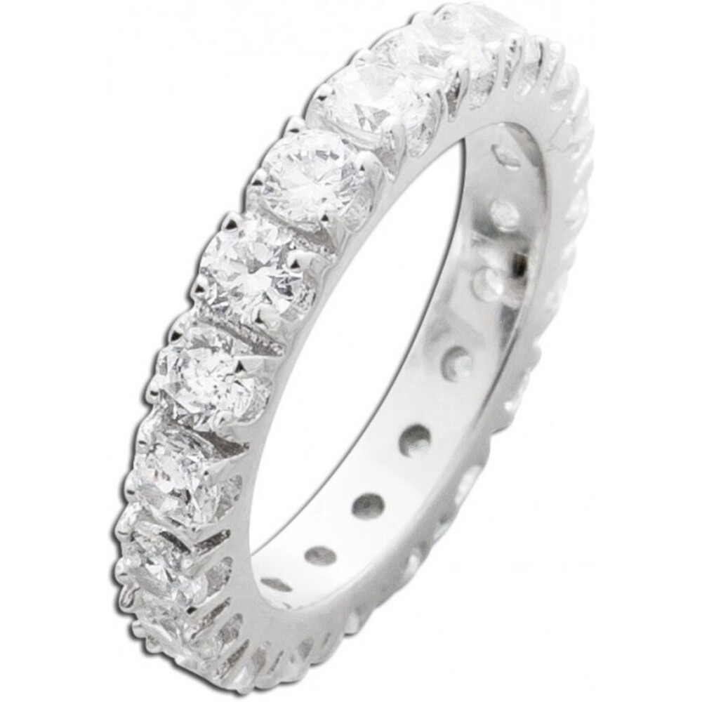 Silberring weißen Zirkonia Silber 925 Memoire Ring 1