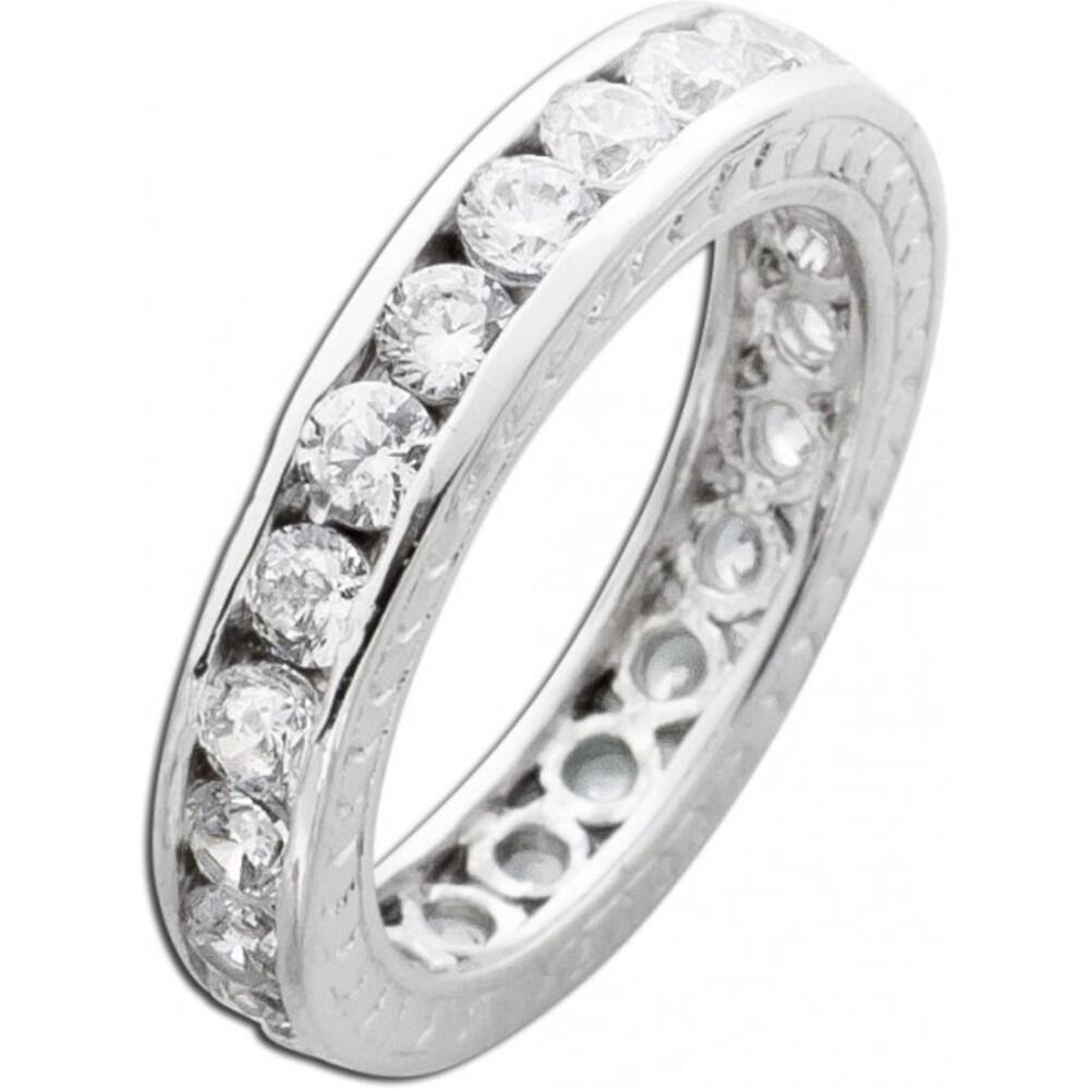 Memoire Ring weißen Zirkonia Silberring 925 Damenschmuck 1