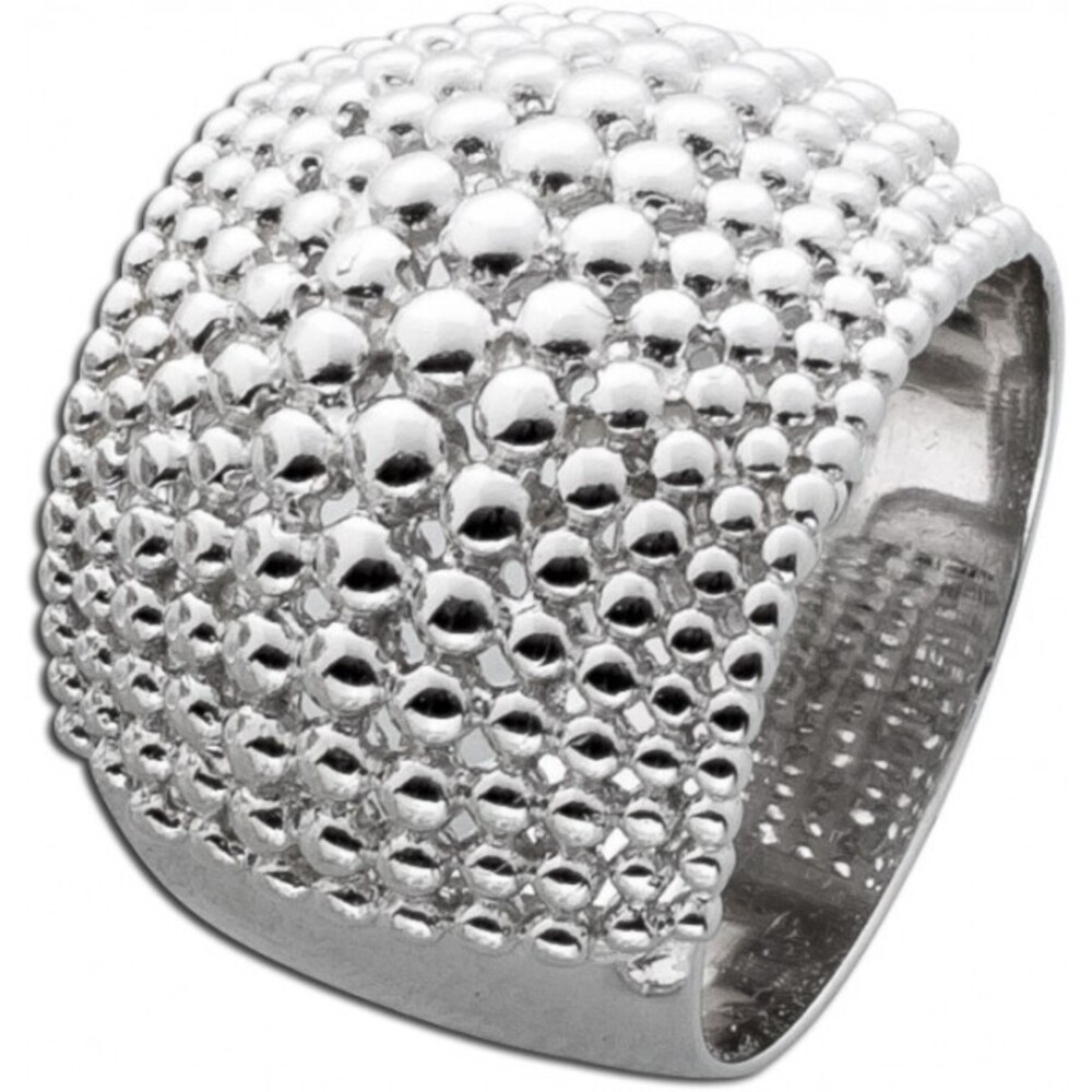 Silber Damen Ring Kugeloberfläche Sterling Silber 925 Damenschmuck