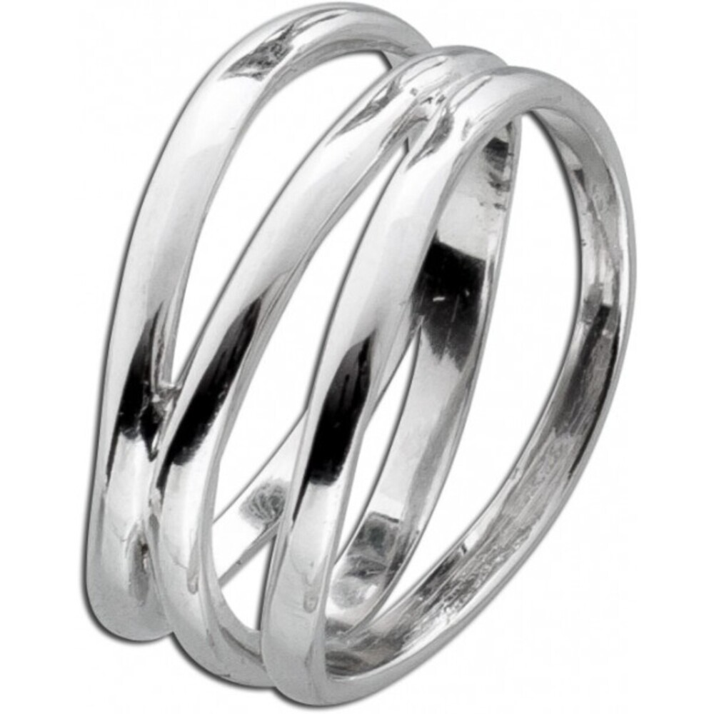 X-Ring Damen Silber Ring Sterling Silber 925 Damenschmuck _1