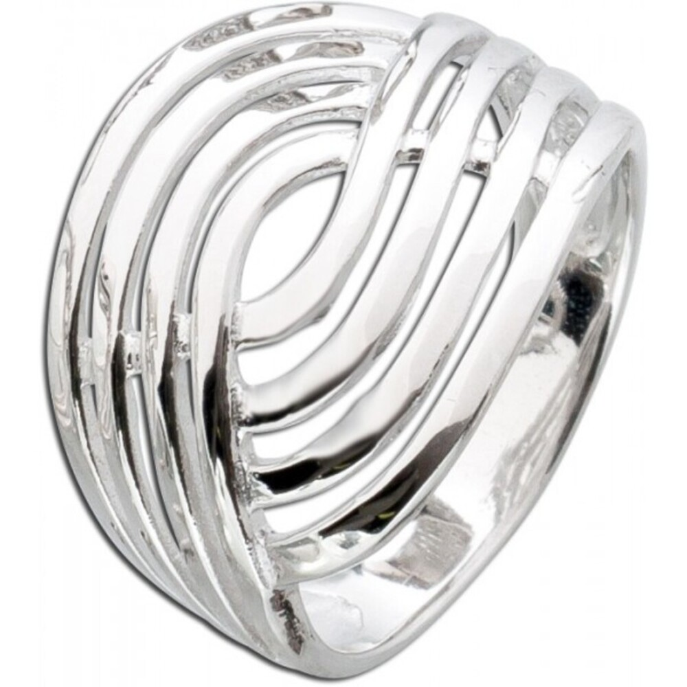 Damenring Silberring Sterling Silber 925 4 reihige Optik _01