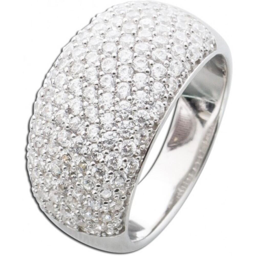 Silberring Ring weisse Zirkonia Damenring Silber 925 -3