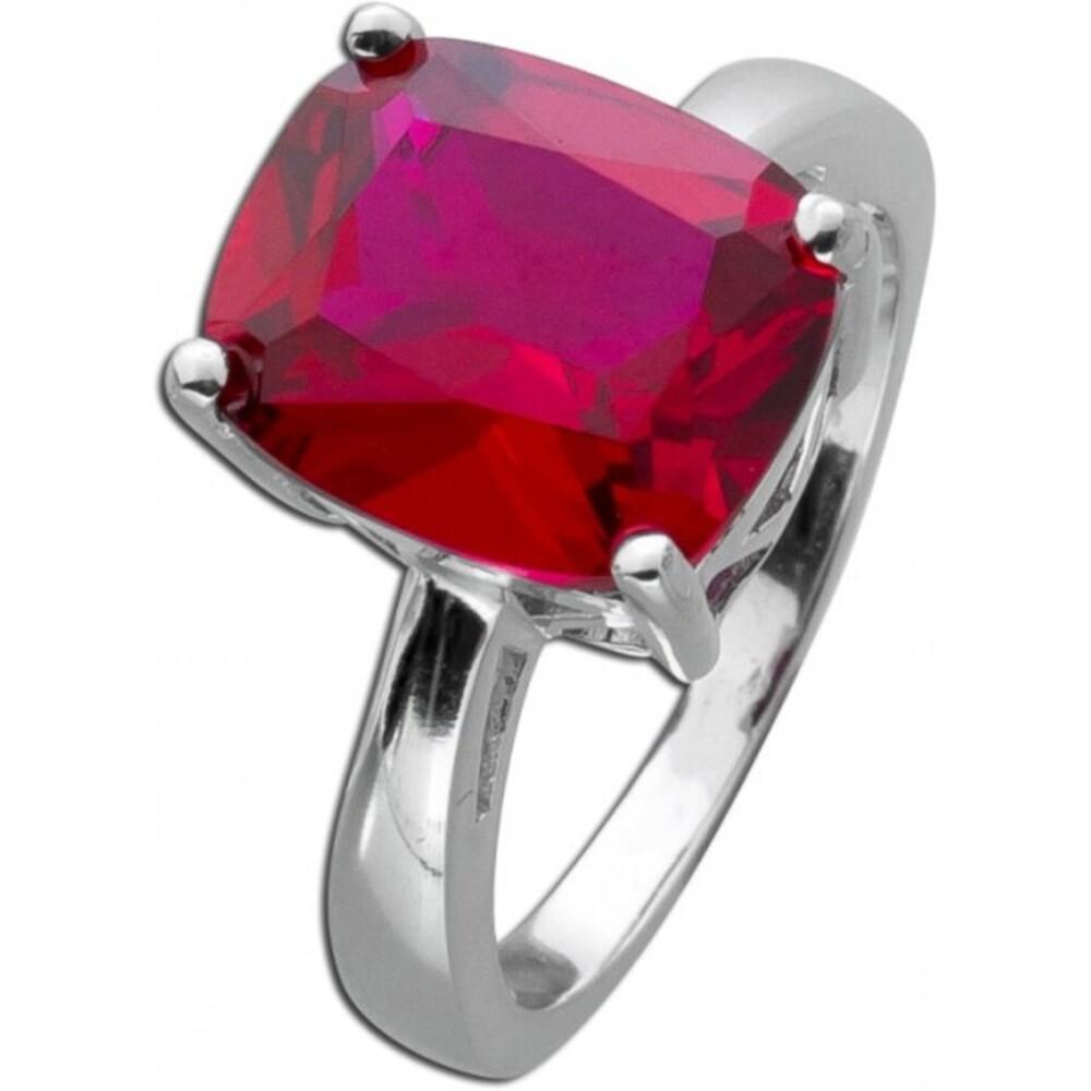 Roter Edelstein Ring Silber 925 roter Rubin rekonstruiert _01