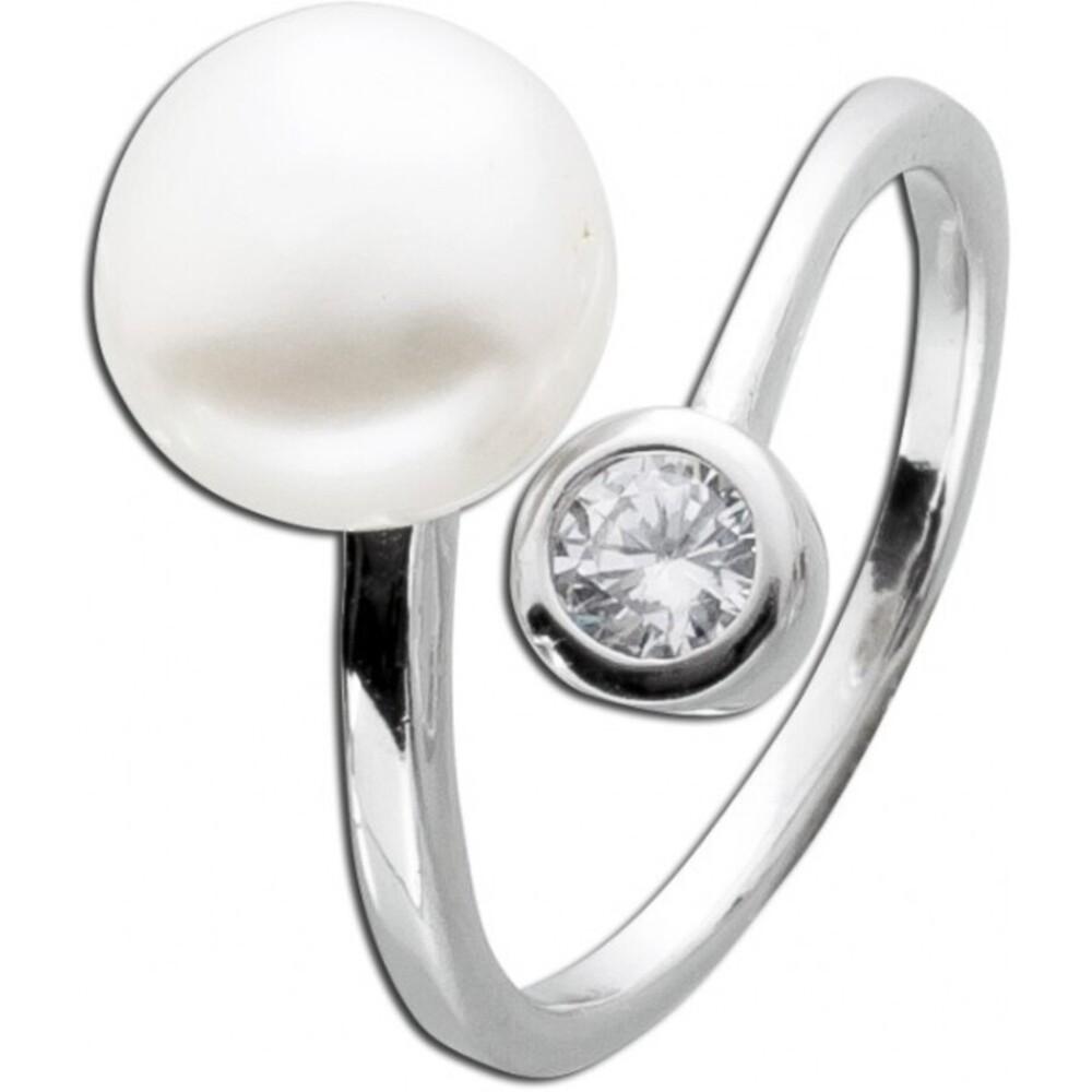 Perlenring weiss Silber 925 Süsswasserzuchtperle echt endlos Unendlichkeit 2