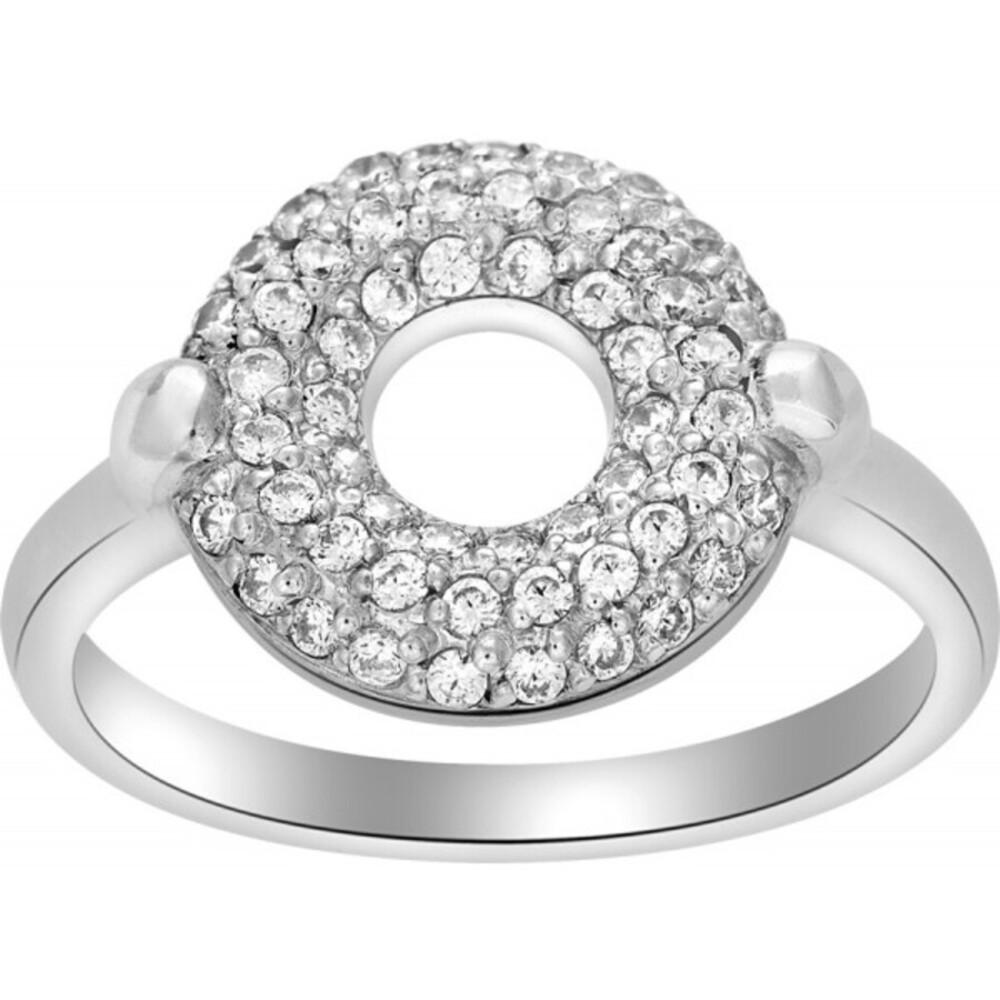 JOANLI NOR Damen Ring Calluna Silber 925 klare Zirkonia Kristalle 108 003