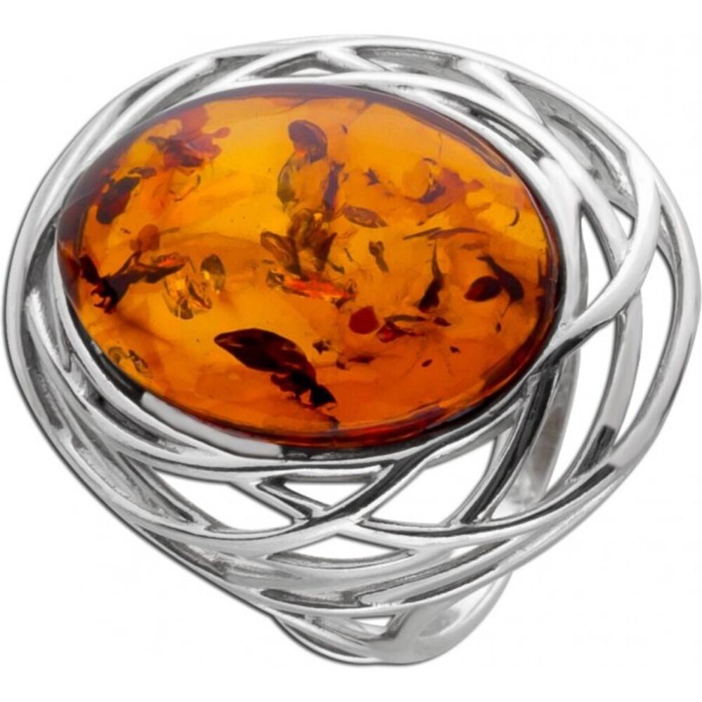 Bernstein Ring Silber 925 ovaler brauner Bernstein Cabochon