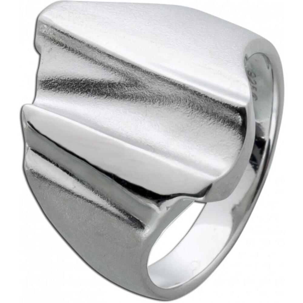 Silberring Ring Silber 925 designschmuck Nordisches Design, 17-20mm