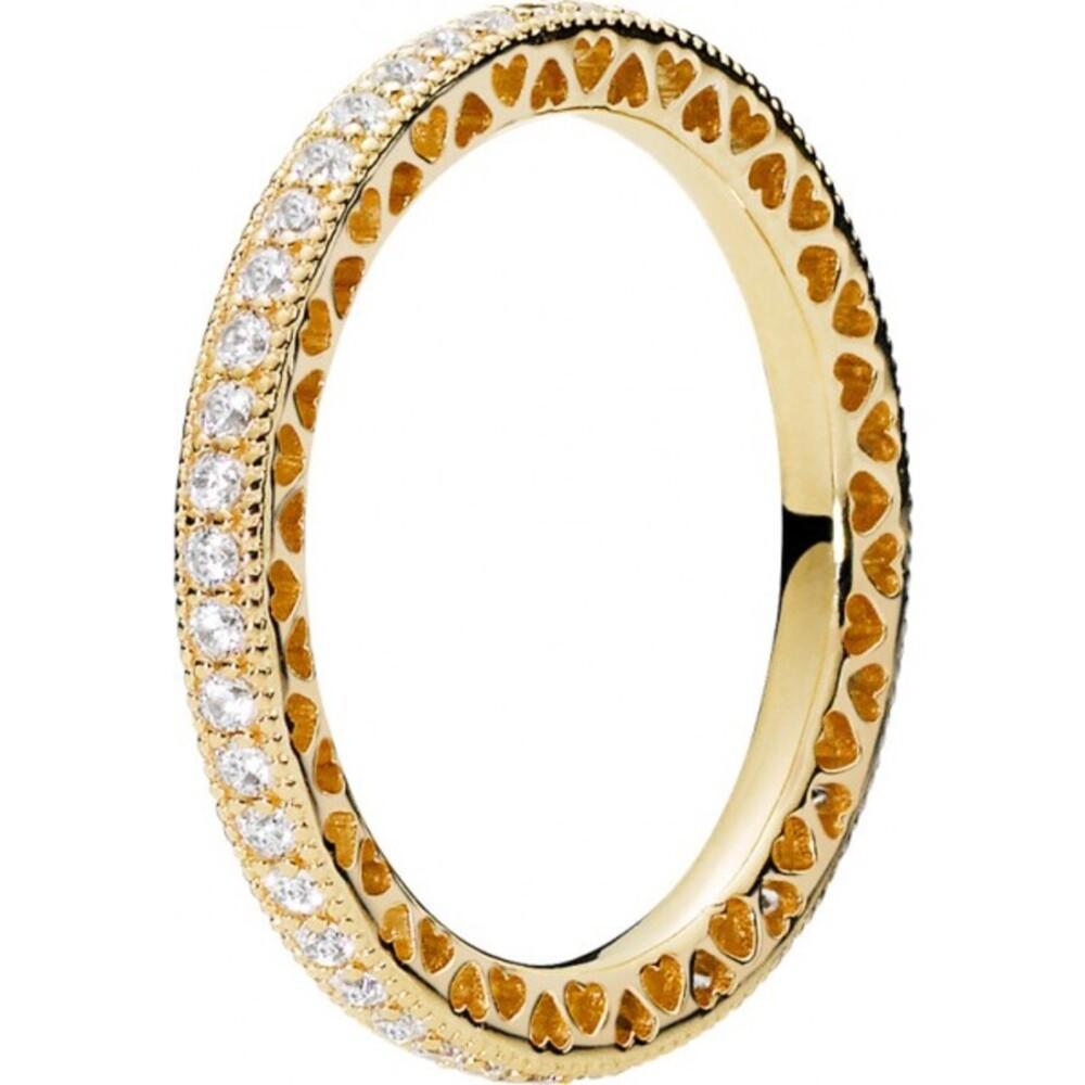 PANDORA  Shine Ring 168655C01 Hearts of PANDORA klare Zirkonia Metall vergoldet 18kt 167076CZ