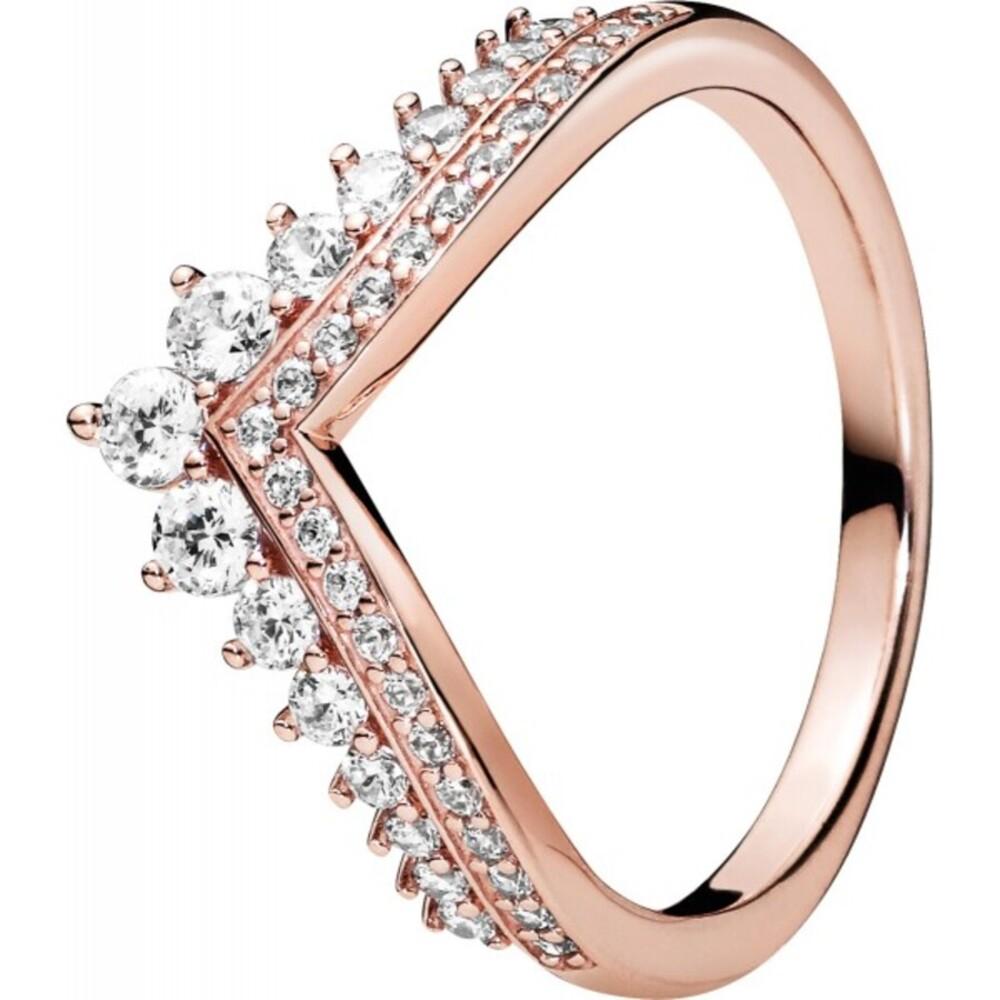 PANDORA Ring 187736CZ Princess Wishbone ROSE Metall Zirkonia Vorsteckring