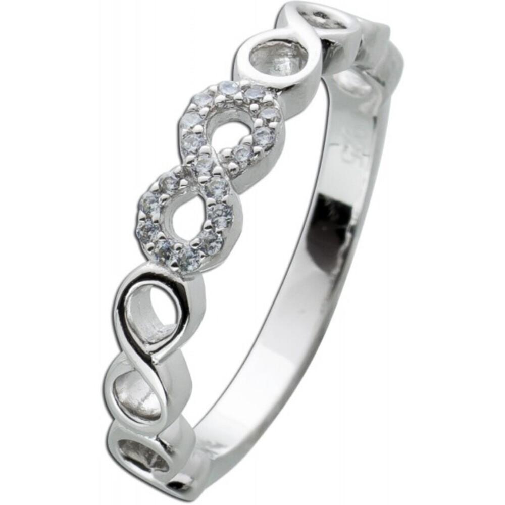Unendlichkeits Ring weißen Zirkonia Silber 925 Damen Ringe 1