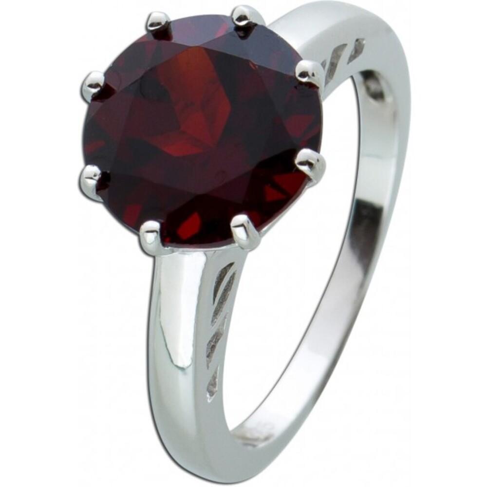 Roter Grant Ring Silber 925 Edelsteinring  1