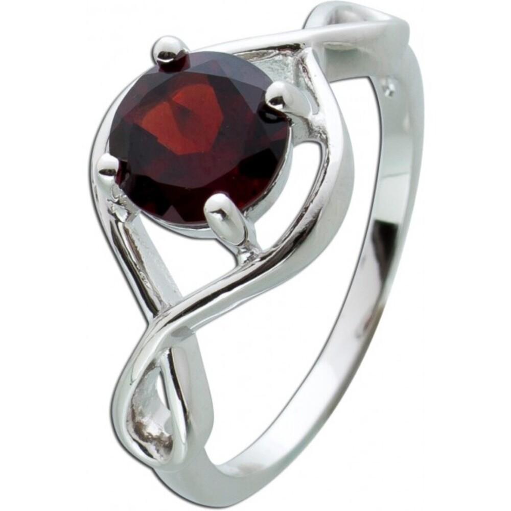 Edelstein Ring roten Granat Silber 925 Damenring  1