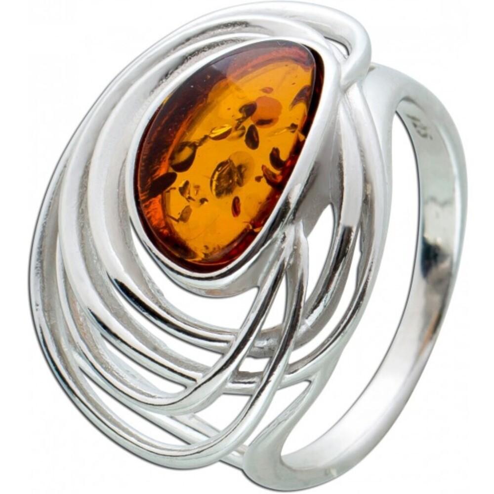 Brauner Bernstein Ring Sterling Silber 925 oval Edelstein Cabochon cognacfarben 17-20mm