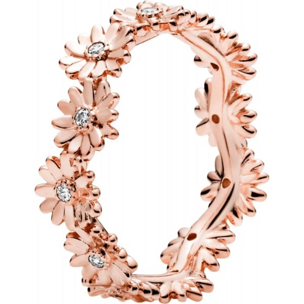 Pandora Garden Ring 188799C01 Sparkling Daisy Flower Crown Stackable Rose Klare Zirkonia
