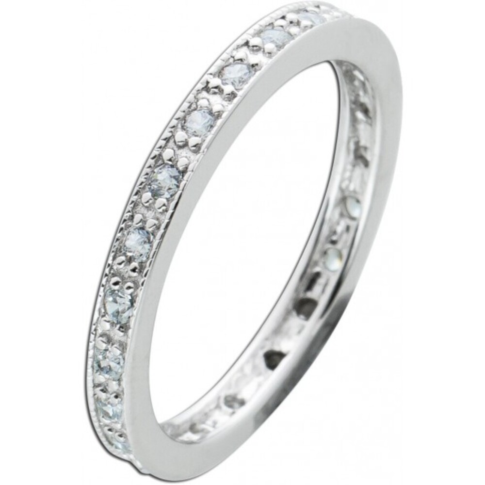 Weißer Zirkonia Ring Silber 925 Damenschmuck 1