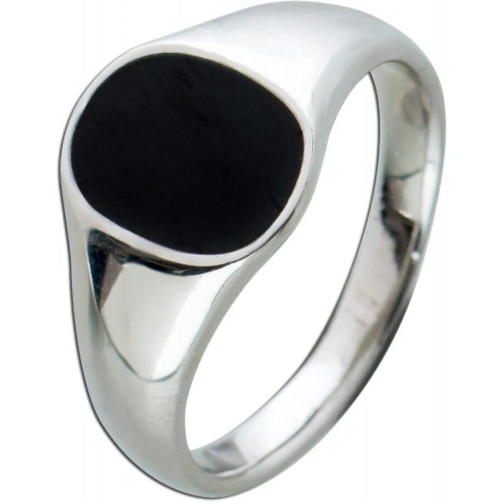 Toyo Yamamoto Herren Ring Edelstahl schwarze Emaille 17-22mm