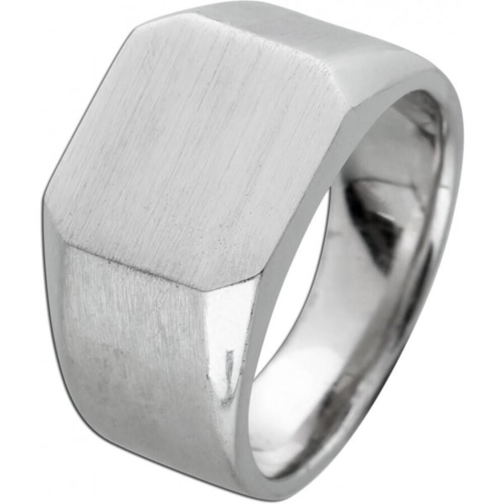 T-Y Siegelring Herren Ring Edelstahl mattiert Toyo Yamamoto gravierbar