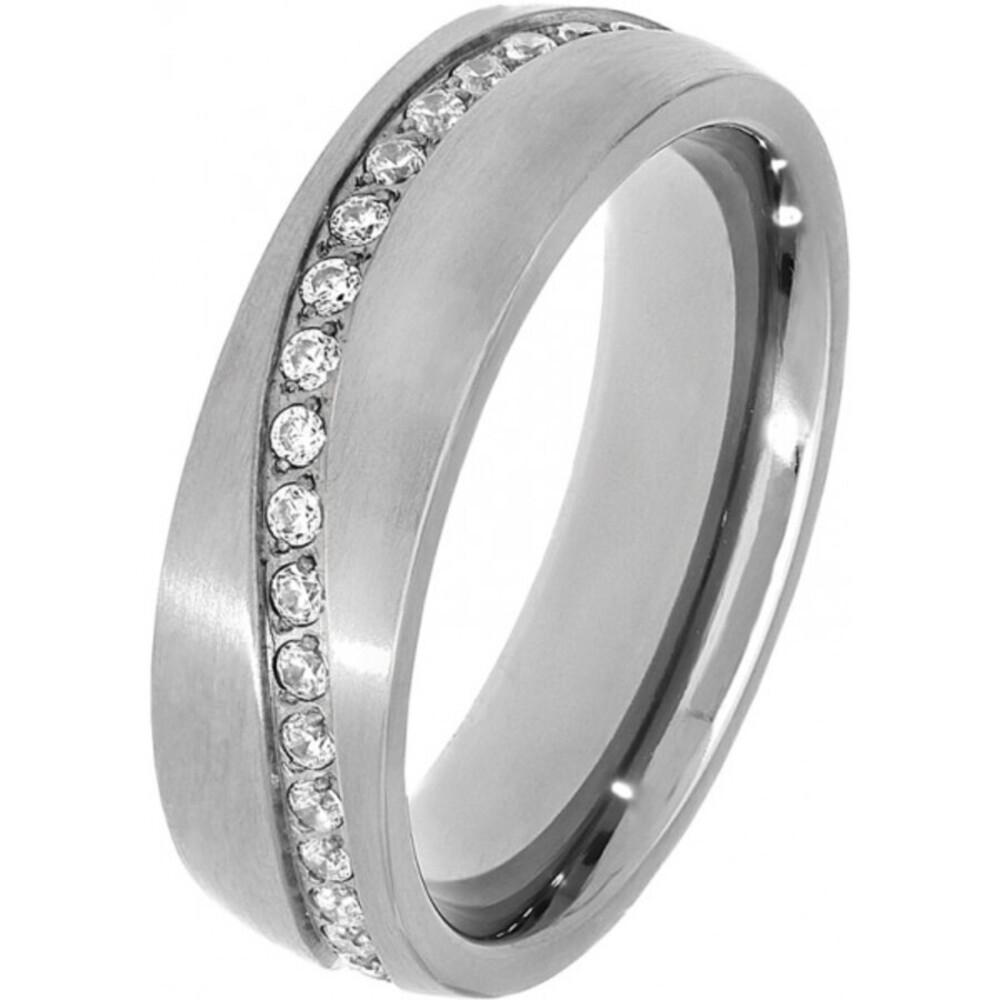 Titania Ring 30020 Titan Klare Zirkonia Satiniert