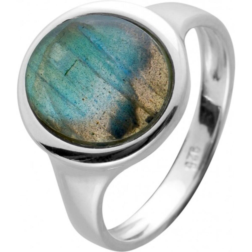 Damen Edelstein Ring Silber 925 Labradorit Cabochon oval  17-20mm
