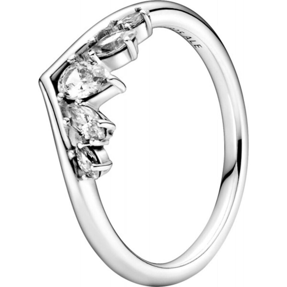 Pandora Wish Ring 199107C01 Sparkling Wishbone Silber 925 Klare Zirkonia Vorsteckring