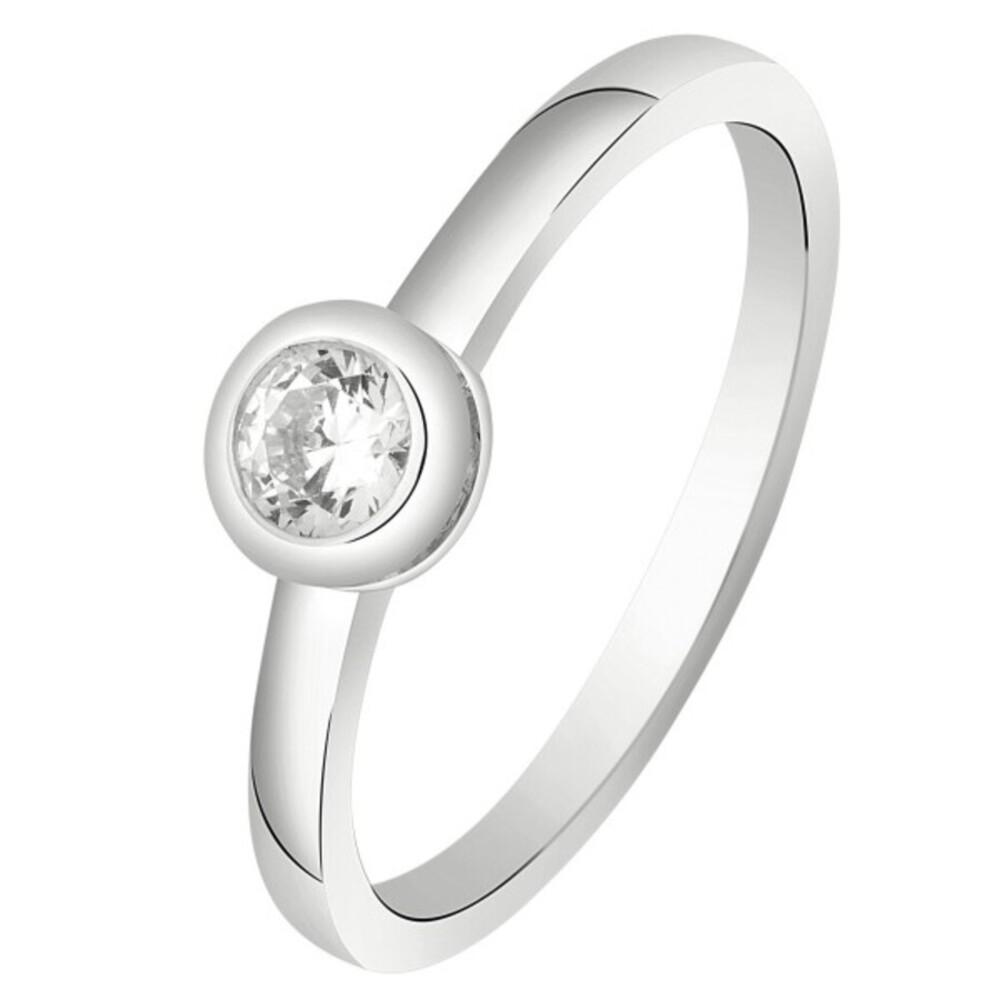 Nordahl Joanli Nor Ring 145902 AmyNor Rhodiniertes Sterling Silber 925 SwarovskiKristall 17-19mm