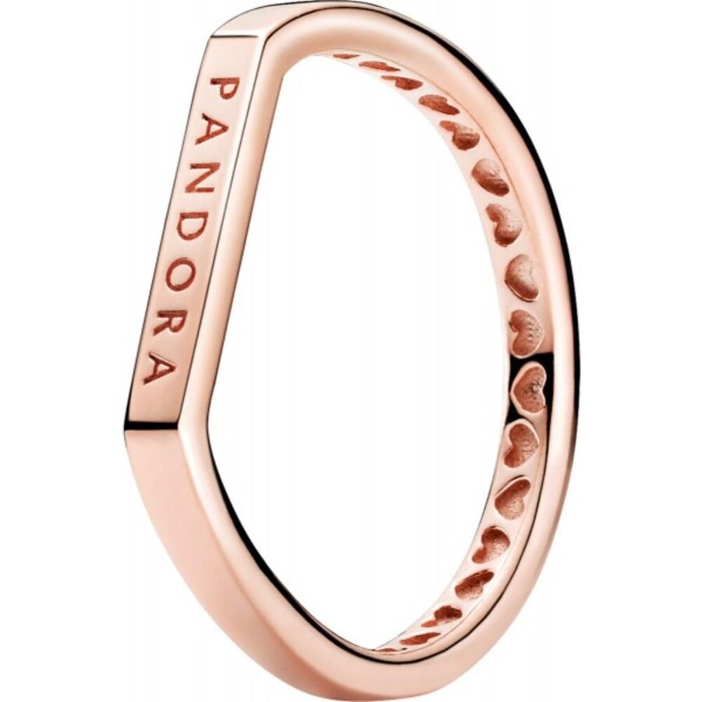 Pandora Ring 189048C00 Logo Bar Rose